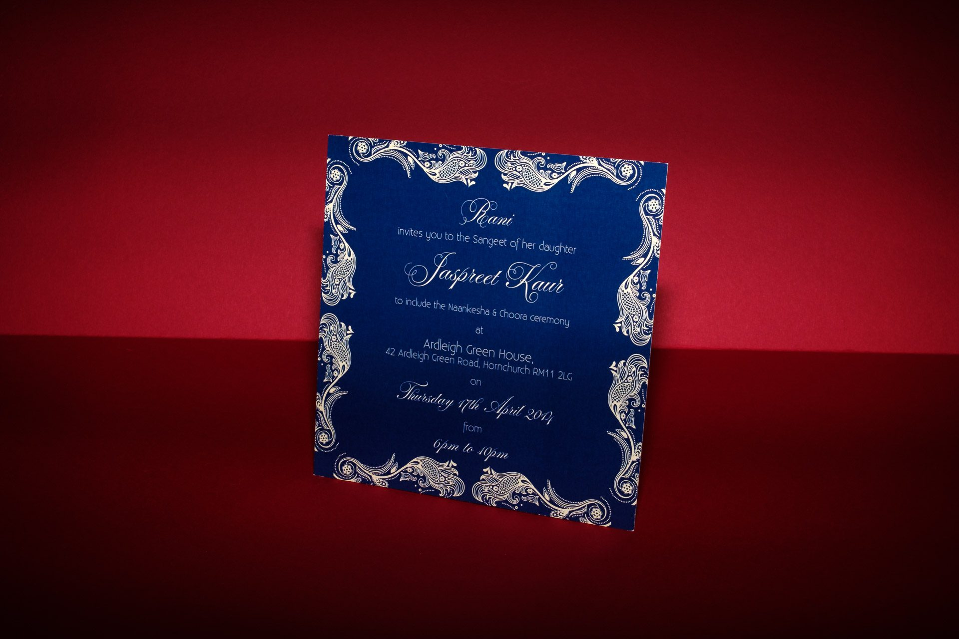 Lord of the Rings and Indian themed wedding stationery