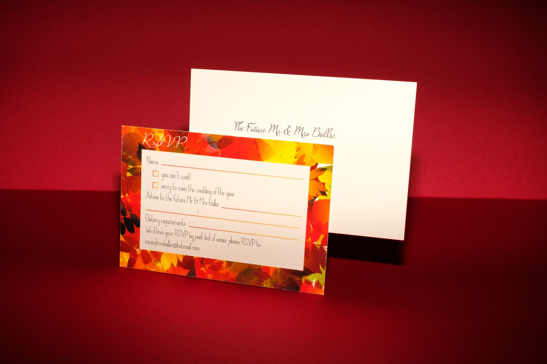 thatthingyoupluck | Autumn Themed Folded Wedding Invitation with a ...