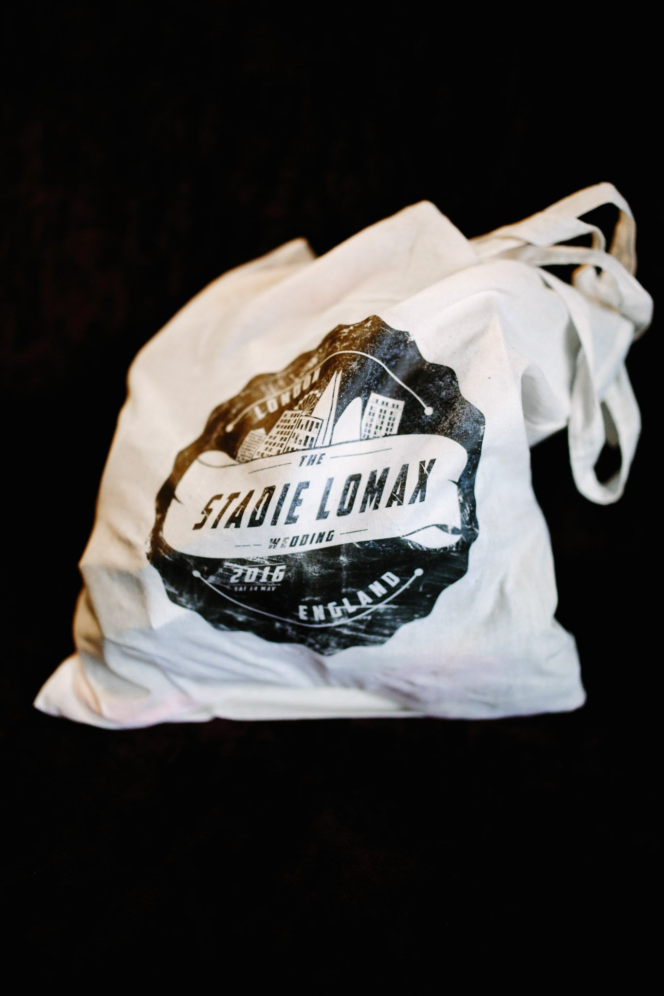 Printed cloth bag with personalised wedding logo