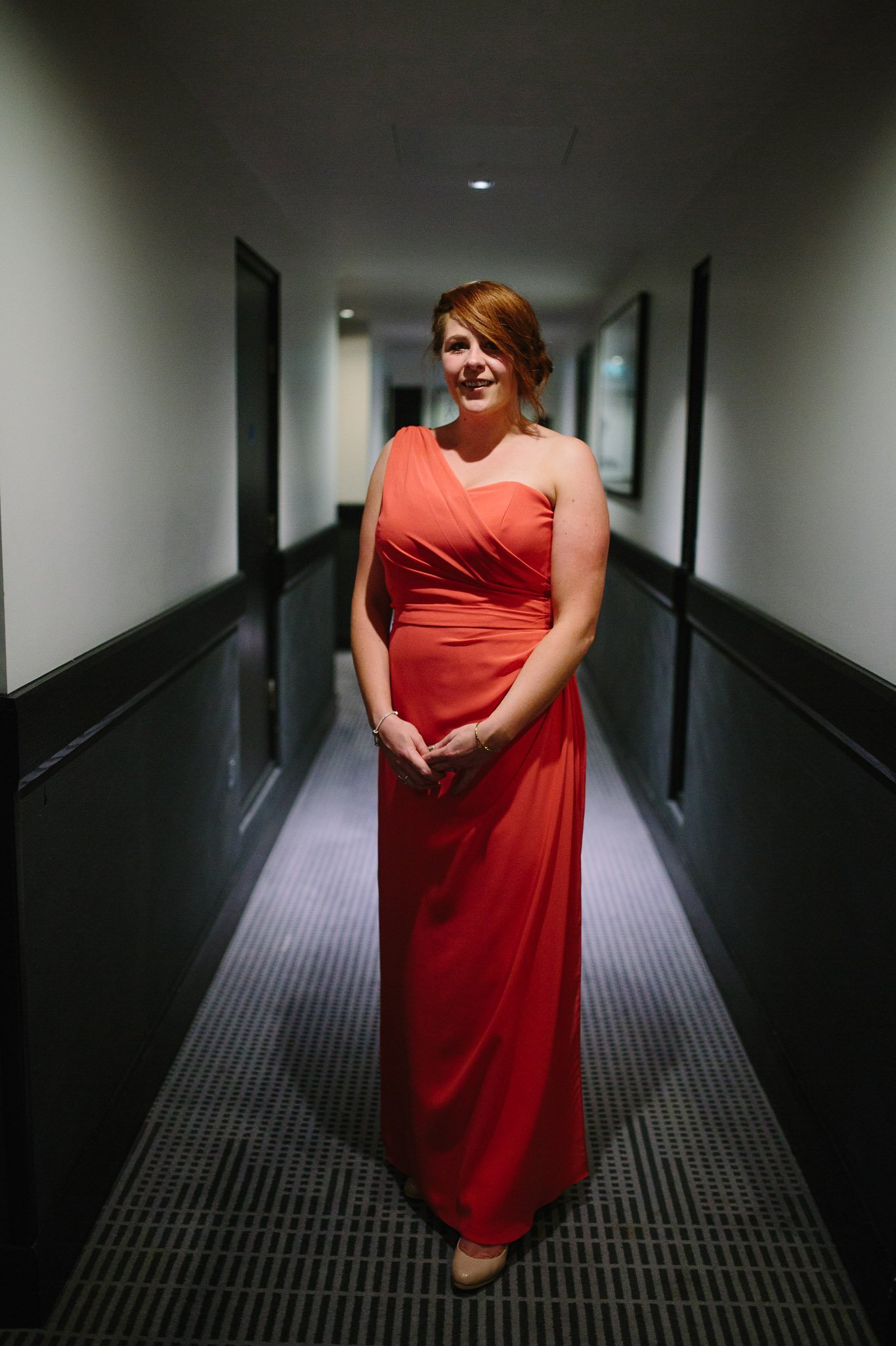Bridesmaid portrait at Hilton Hotel Angel Islington