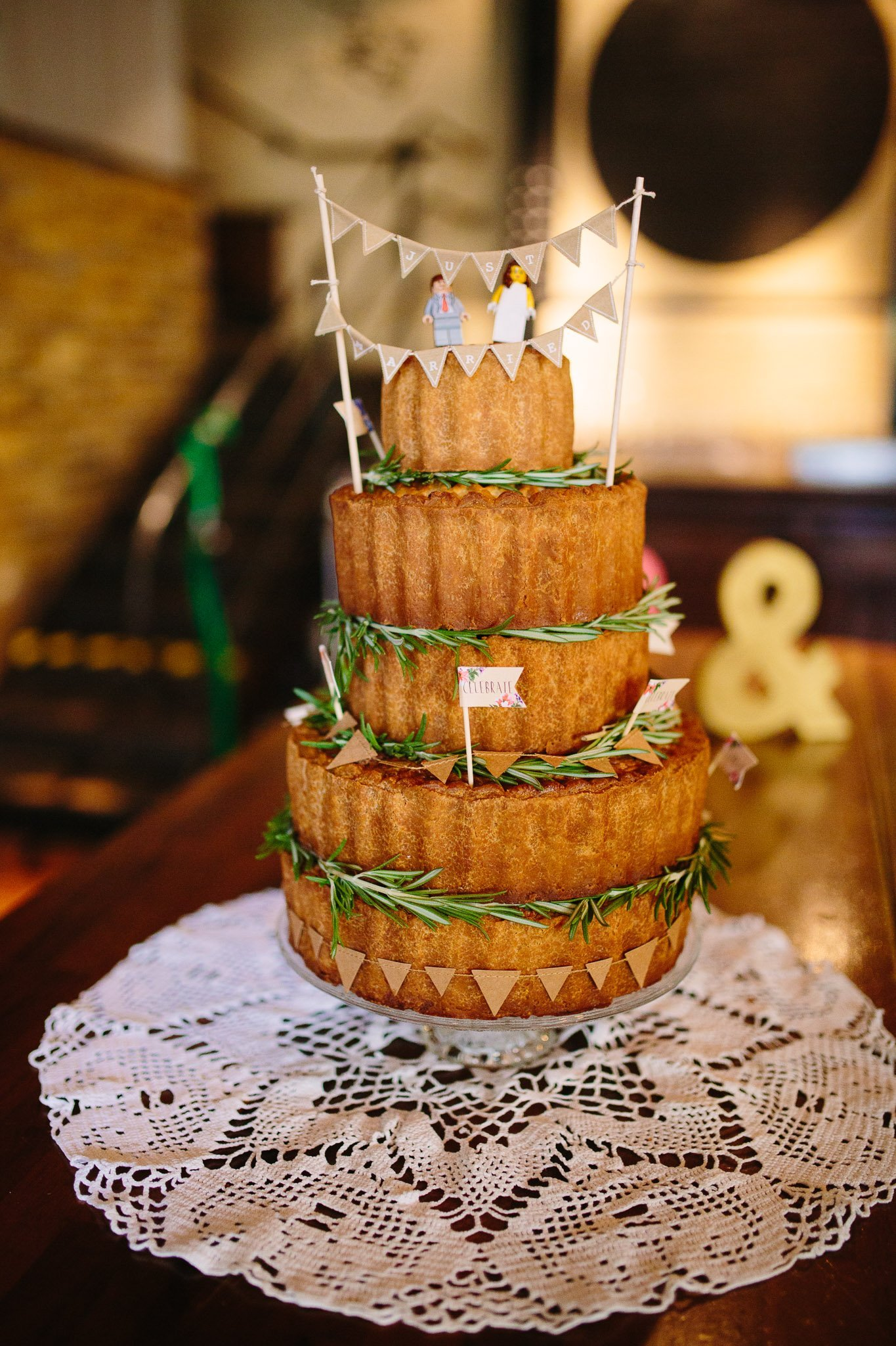 Five tier wedding sponge cake