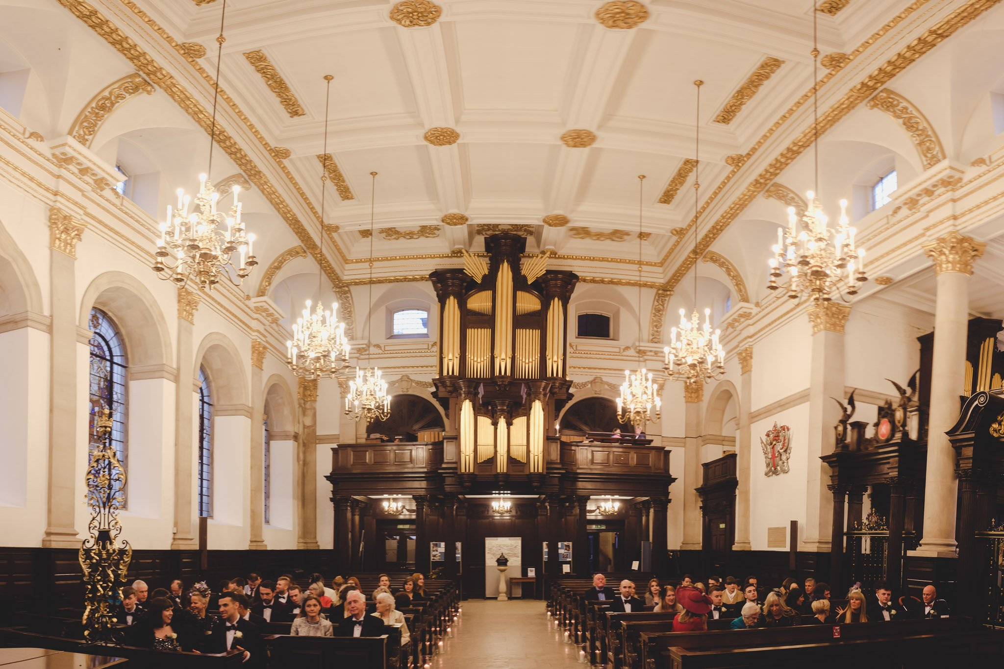 Wedding guests at St Lawrence Jewry Guildhall