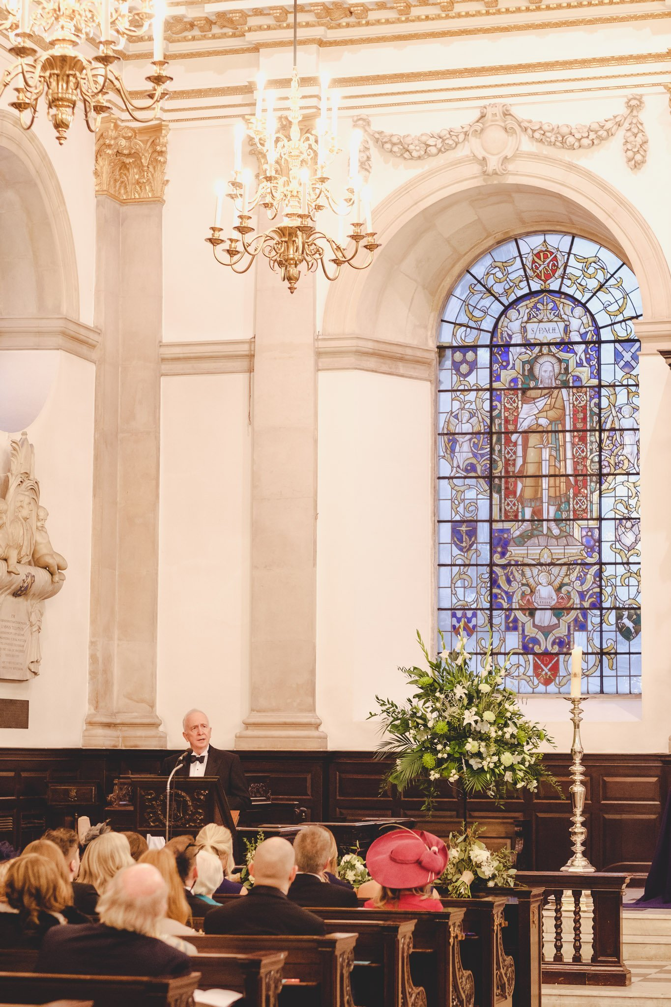 Father of the Groom church reading at St Lawrence Jewry wedding