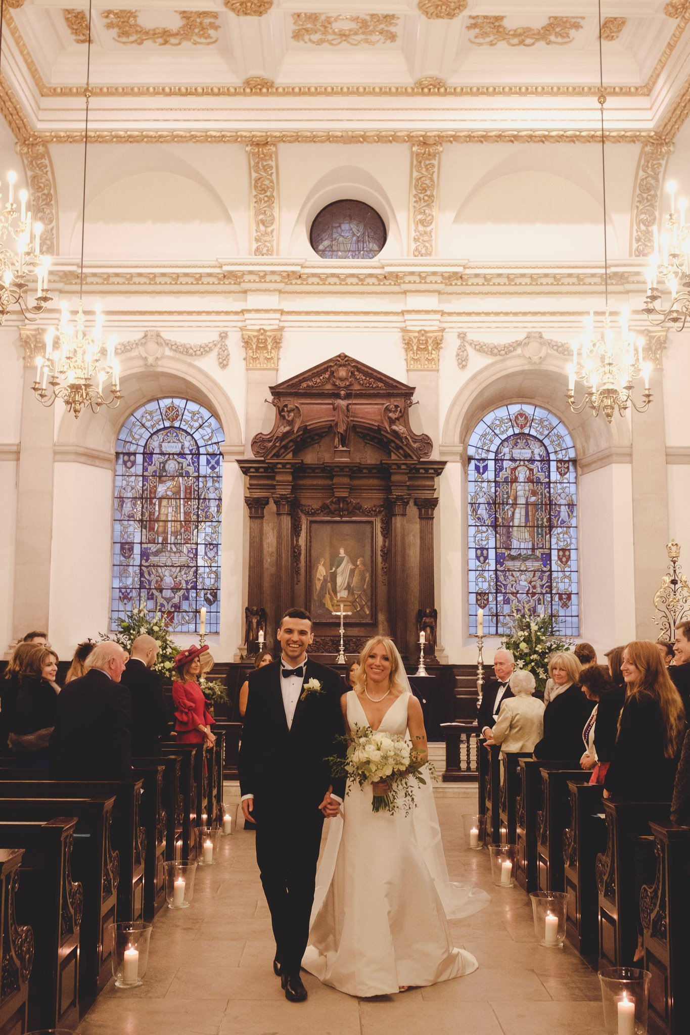 Bride & Groom just married at St Lawrence Jewry wedding Guildhall