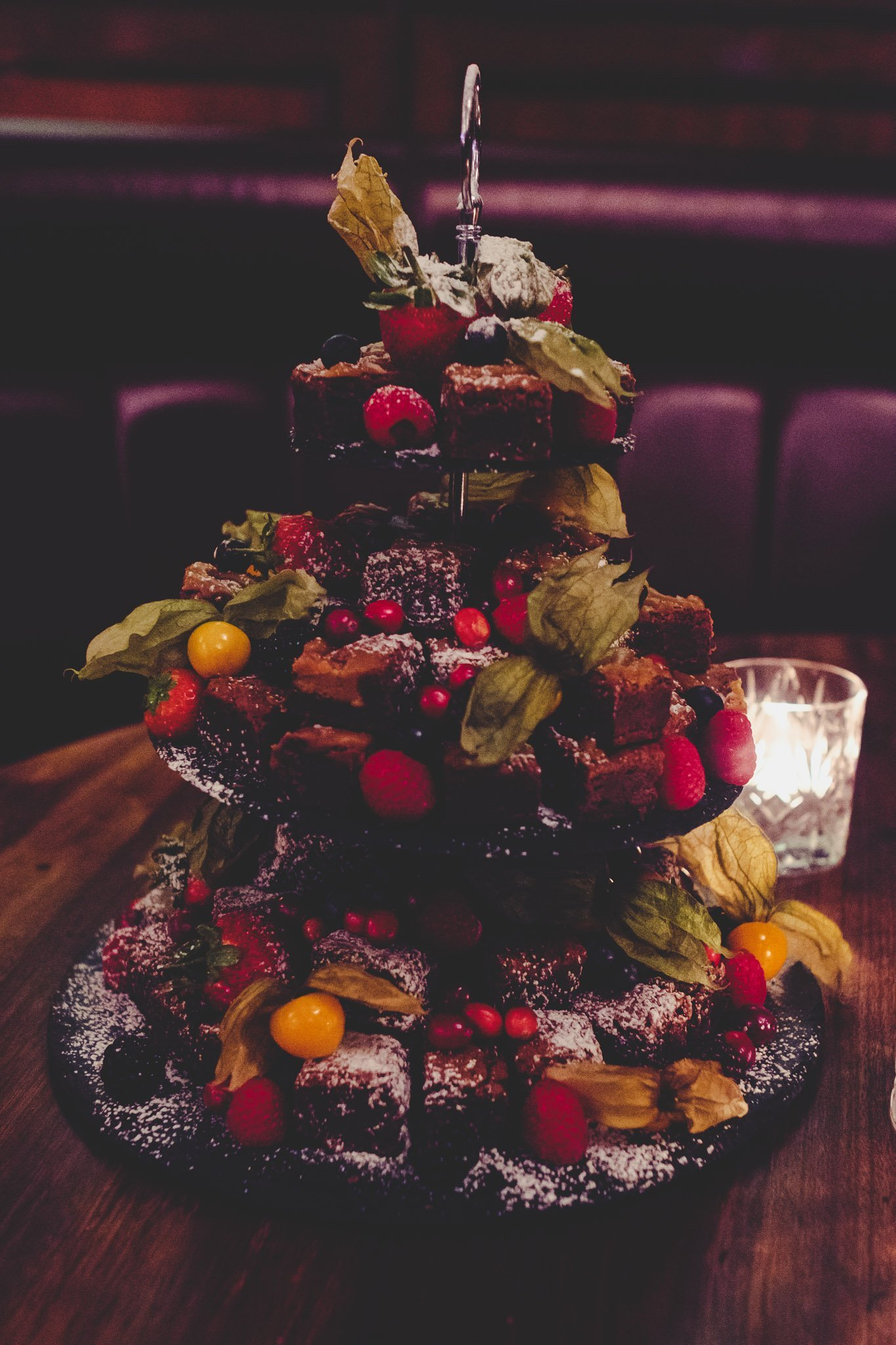 Frosted Wedding cake at Hawksmoor Steakhouse in Guildhall London