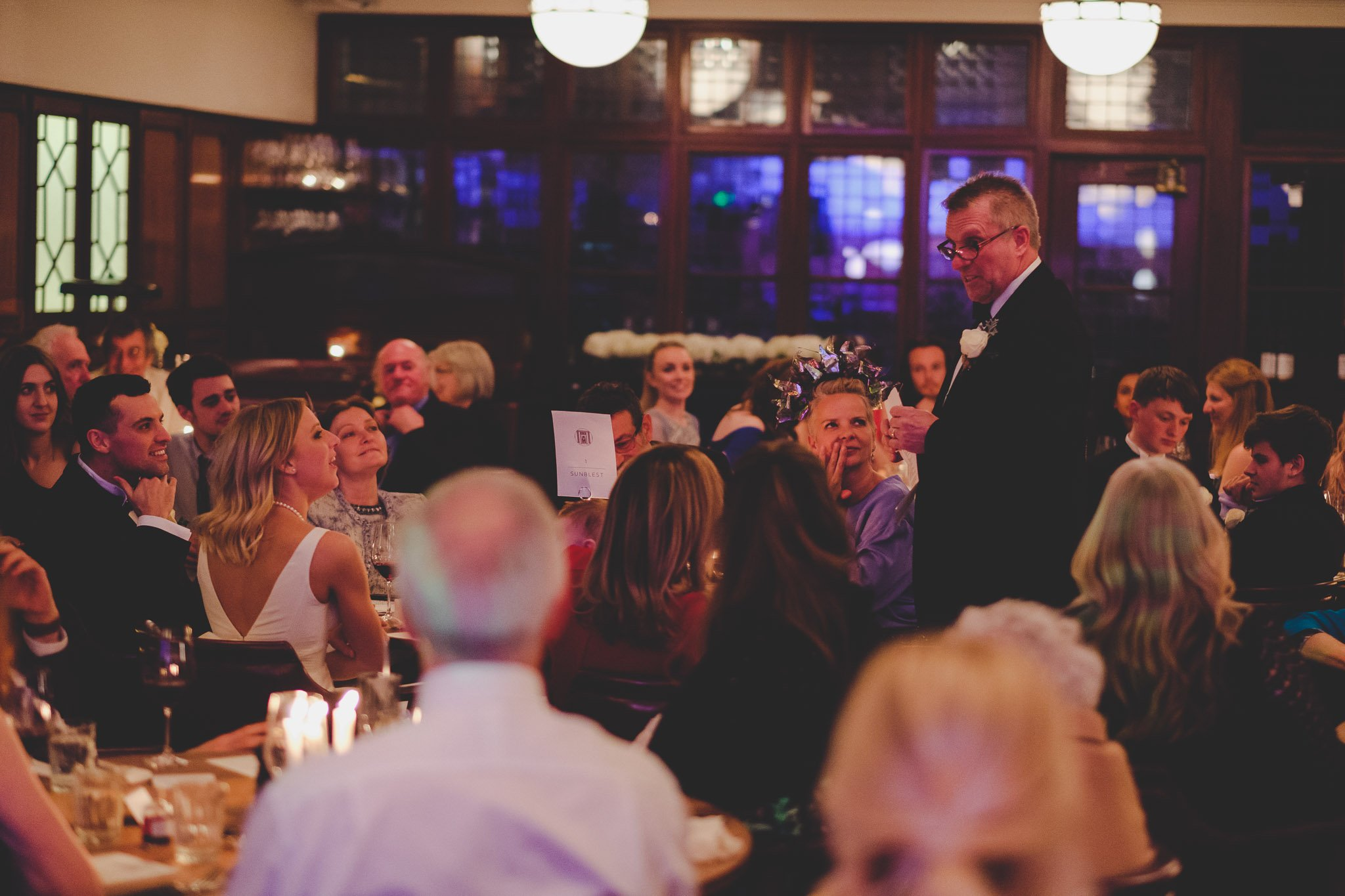 Father of the Bride speech at Hawksmoor Steakhouse in Guildhall London