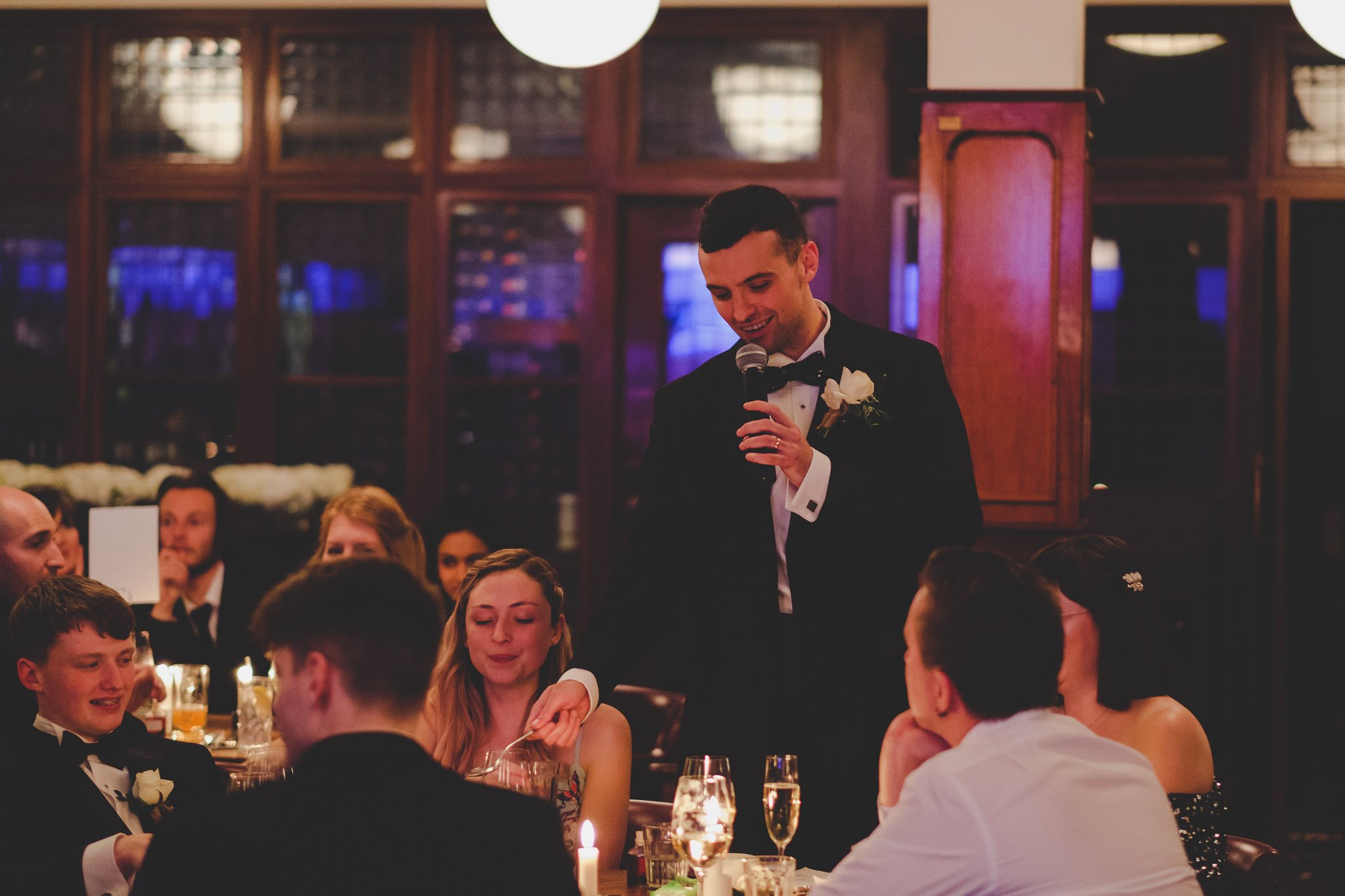 Groom's speech at Hawksmoor Steakhouse in Guildhall London