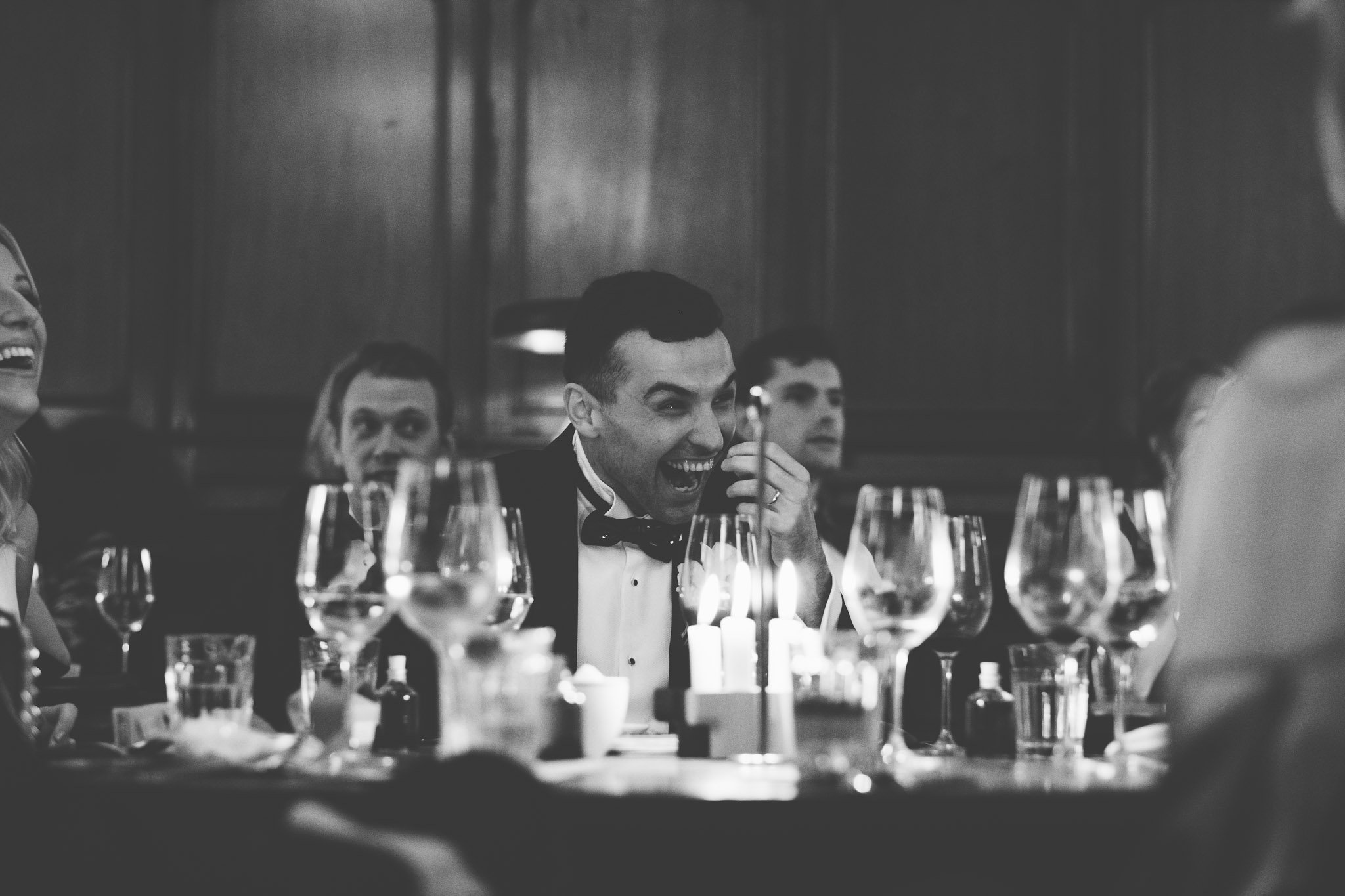 Laughing Groom at Hawksmoor Steakhouse in Guildhall London