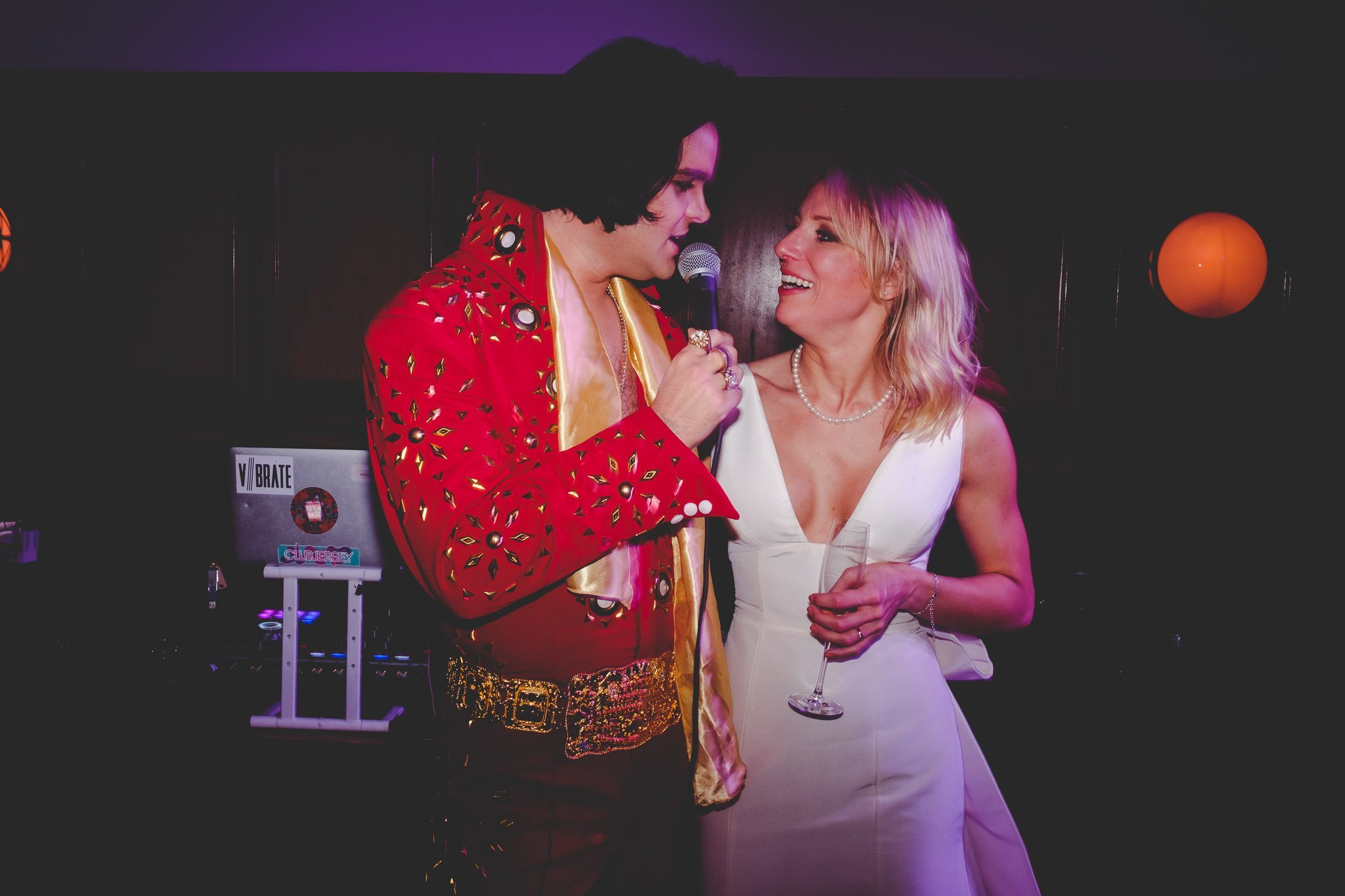 Elvis & Bride at Hawksmoor Steakhouse in Guildhall London