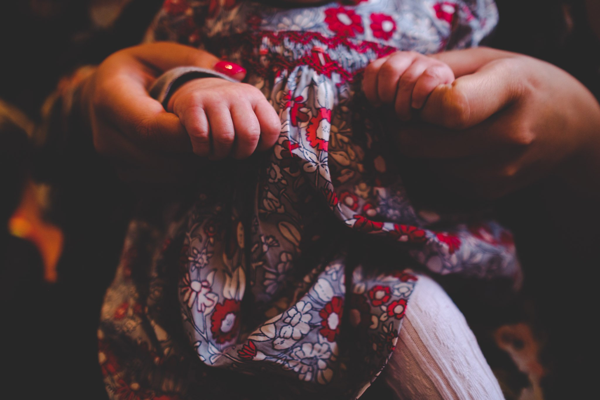 Detail photo of mum holding daughters hands Lifestyle photography Chiswick