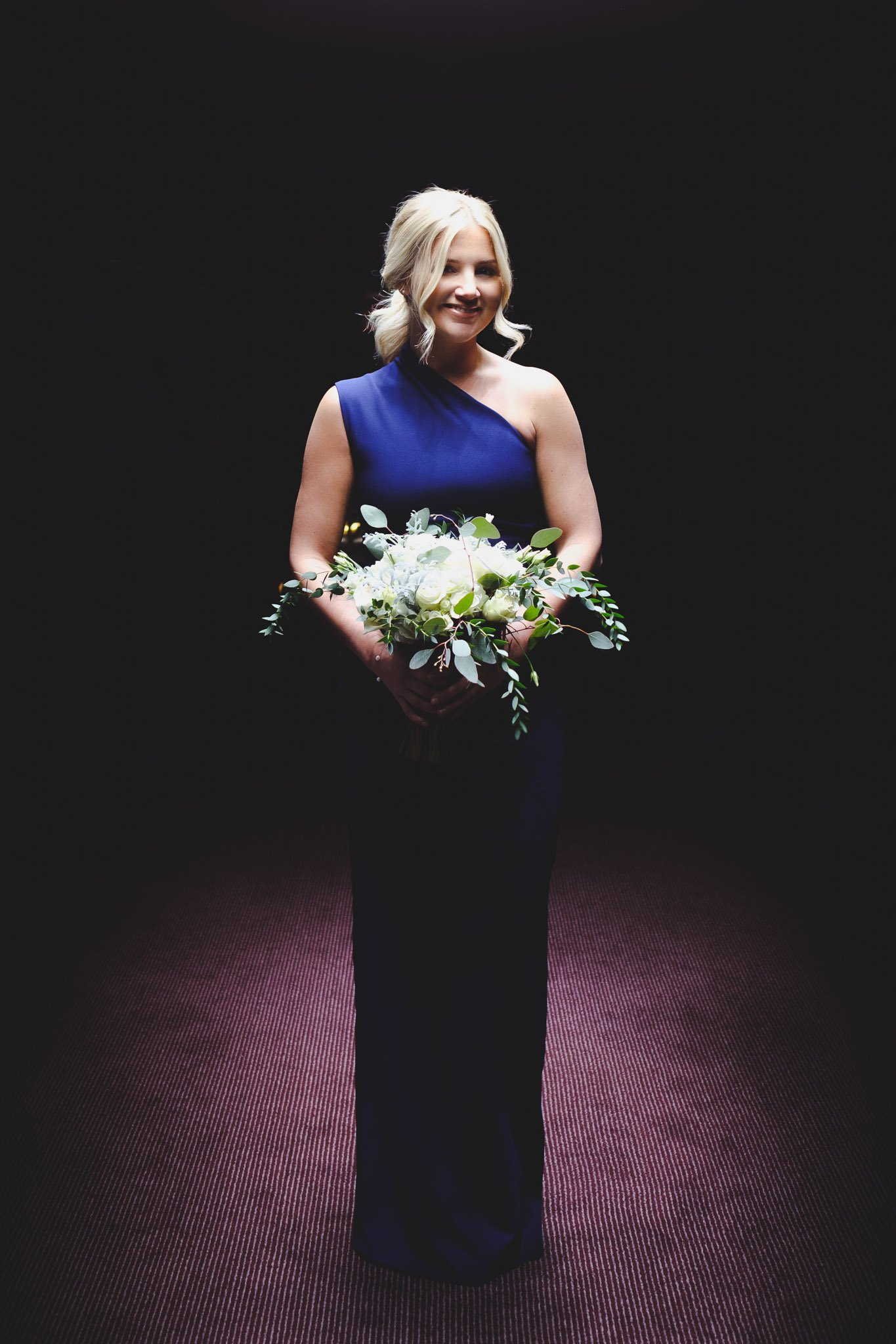 Portrait of a Bridesmaid at The Montcalm Hotel Finsbury Square London
